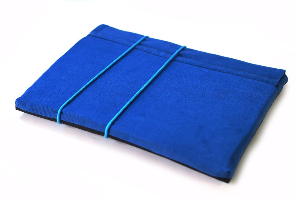 """Pochette portable 11"""" tissu mandalas, étui MacBook Air tissu ethnique, housse Lenovo 12""""en velours, cadeau femme"""
