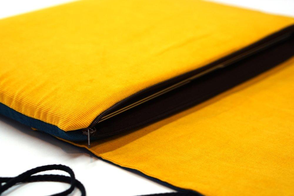 """Housse macbook air 13""""en velours, étui ordinateur portable 14"""" tissu japonais, Housse HP, pochette Lenovo Think pad, sac ordinateur"""