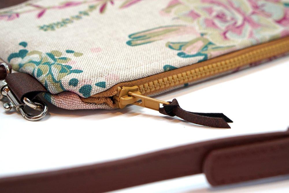 Sac à main similicuir couleur vieilli tissu floral, pochette à main, sac bandoulière cuir, sac mariage, soirée, cadeau femme