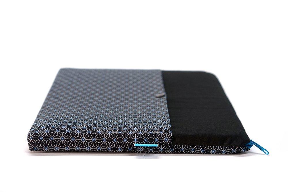 """Etui ordinateur 15 pouces, pochette tissu japonais MacBook Pro 15, housse HP 15 pouces, pochette 15"""" cadeau femme, anniversaire, homme"""