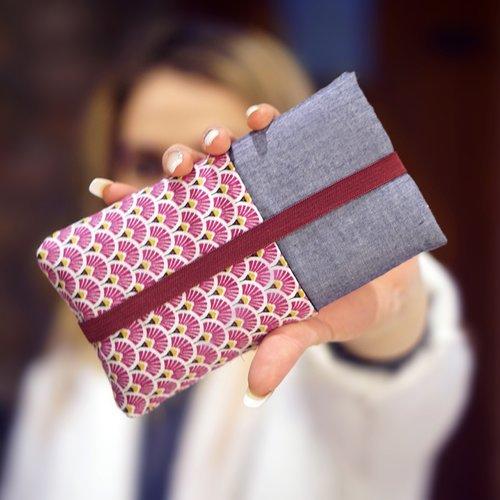 Housse téléphone sur mesure, coque iphone tissu japonais, étui samsung galaxy, pochette xiaomi, housse huawei, saint valentin, cadeau