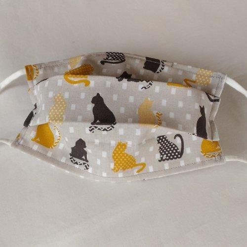 Masque de protection enfant imprimé jolis chats