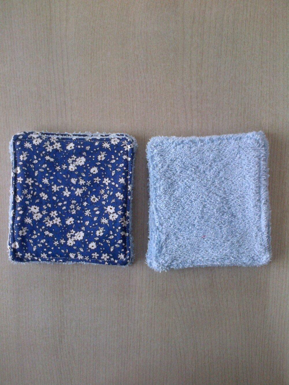 10 lingettes lavables écologiques pour se démaquiller ou pour bébé