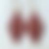 Boucles d'oreilles crochet losange en perles miyuki