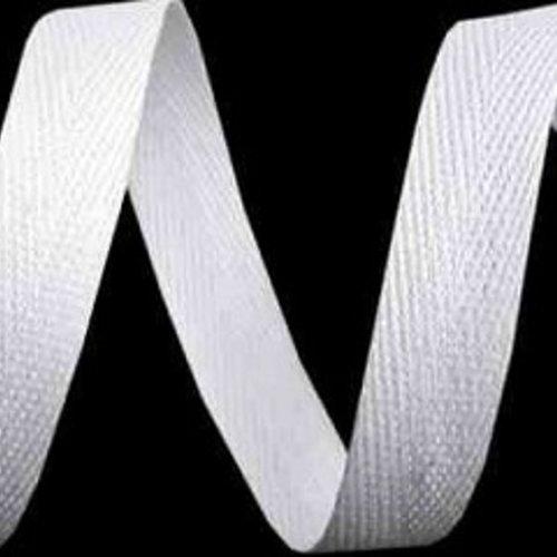 Ruban sergé de coton blanc - 10mm