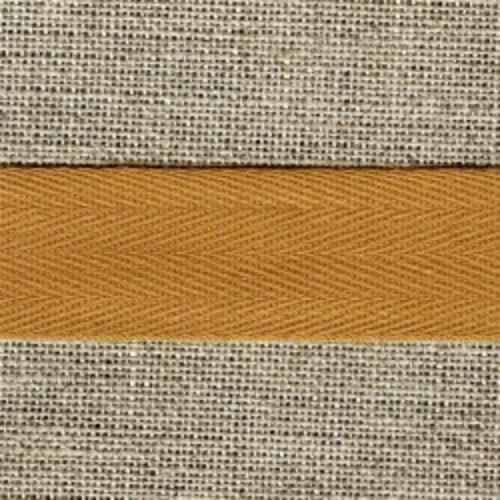 Ruban sergé de coton amande - 10mm