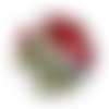 """Bouton """"coquelicot"""" rouge - 24mm"""