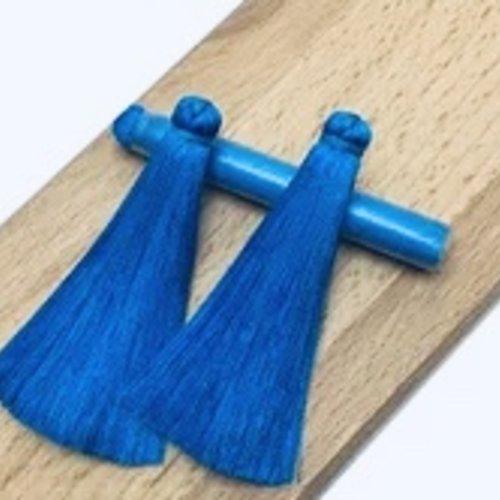 Pompon bleu royal - 12cm