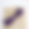 Cordon en suédine tressé - violet