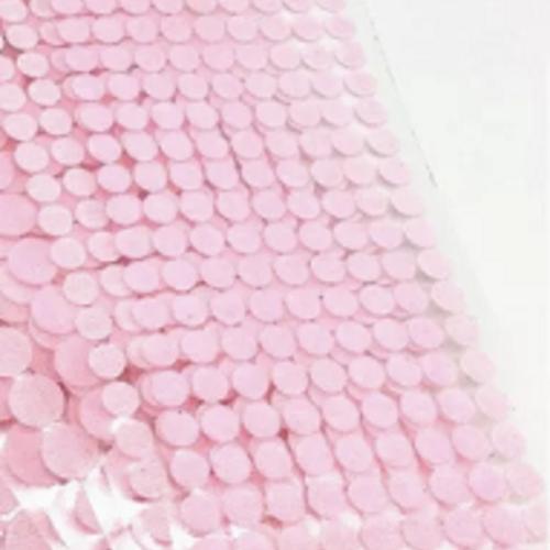 Pastilles scratch auto-adhésives 10mm - rose