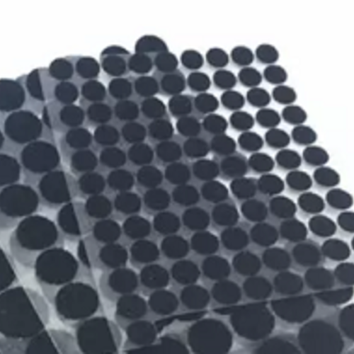Pastilles scratch auto-adhésives 10mm - noir