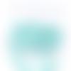 Barrette clic-clac bleu clair  x 2