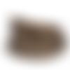 Cordon plat marron pailleté  - 5mm