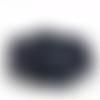 Cordon plat marine pailleté  - 5mm