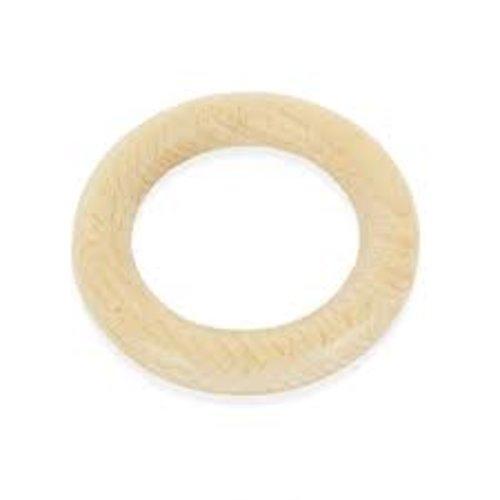Anneau de dentition rond en bois - 70mm