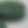 Biais en coton uni vert forêt - 2cm