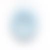"""Bouton """"berlingot"""" bleu et blanc x2"""