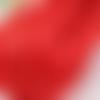 5m de ruban satin rouge kiss - 3mm