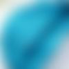 5m de ruban satin turquoise - 3mm