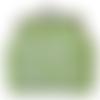 Kit porte monnaie à broder - vert anis et blanc