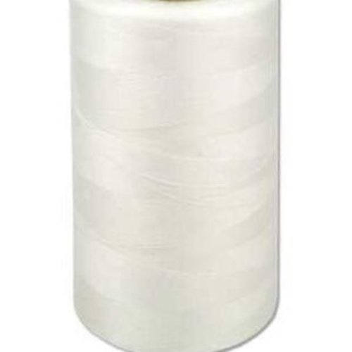 Fil à coudre blanc  g120 - 1000m