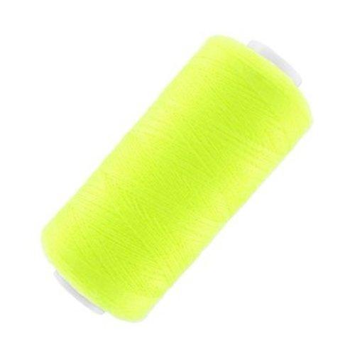 Fil à coudre jaune fluo g120 - 1000m
