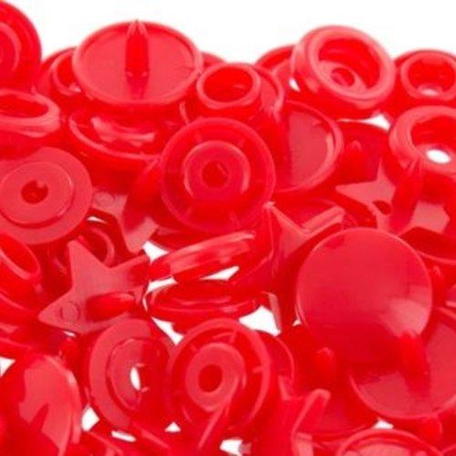 Bouton pression étoile rouge clair  x 6 - 12mm
