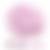Bouton pression cœur rose x 6 - 12mm