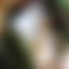 Boucles d'oreilles bronze cabochon femme rousse aux fleurs de mucha, perle en cristal de roche