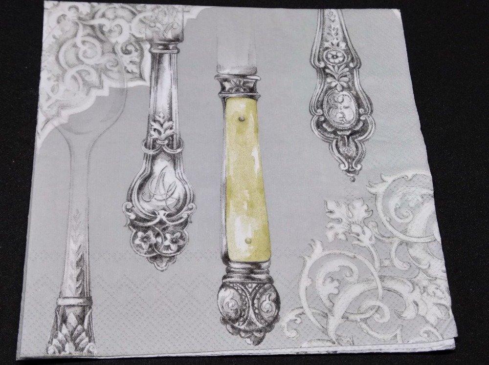 """serviette papier/napkin   """"Table couverts vintages"""""""