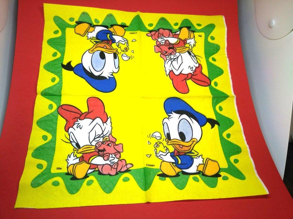 """serviette papier/napkin: Enfant  """"Mickey et Donald"""""""