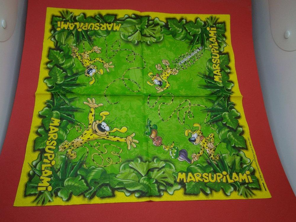 """serviette papier/napkin: Enfant  """"Marsupilami"""""""