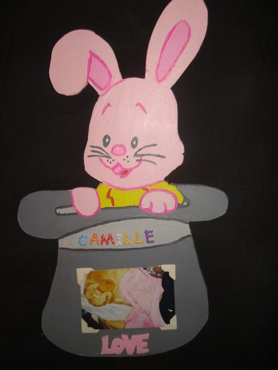 Cadre photo lapin avec personnalisation de votre choix