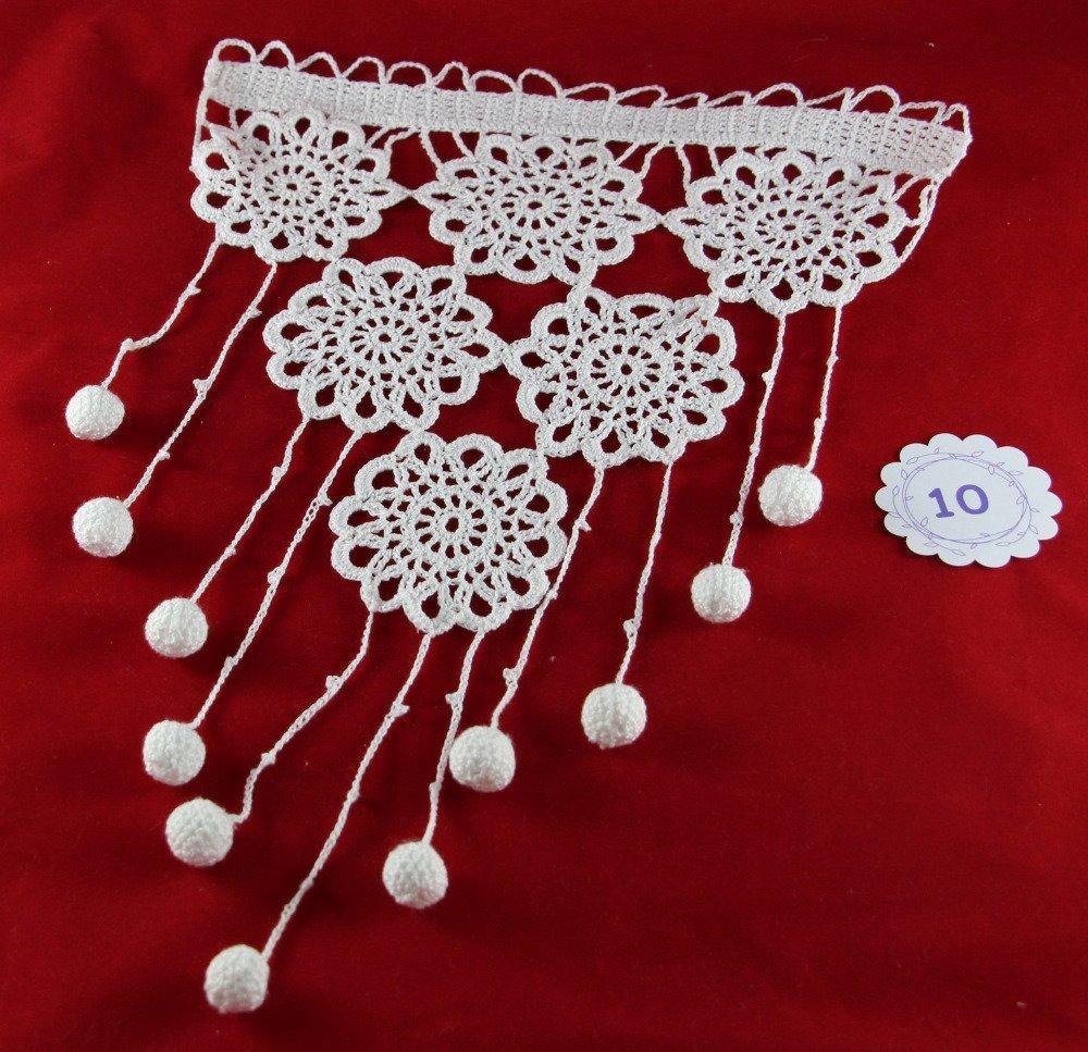 Sur commande Rideau brise-bise  crochet dentelle