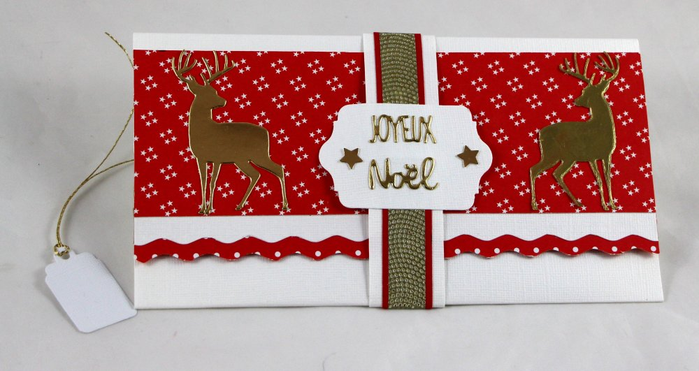Sur commande Pochette chèque billet cadeau, Pochette Joyeux NOËL, NOËL, enveloppe cadeau