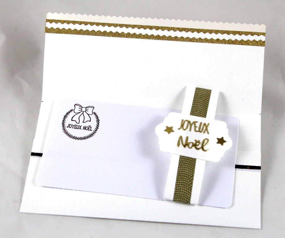 Pochette chèque billet cadeau, Pochette Joyeux NOËL, NOËL, enveloppe cadeau
