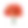 6 fleurs en tissu 11 cm bouquet de coquelicots fabrika décoru orange