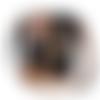 Besace brodée  femme asymétrique , toile coton noir , faux-cuir camel  broderie fleurs sauvages ,coquelicots ,bohème, sac à bandoulière