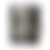 Petit portefeuille compact homme, simili-cuir gris, tissu noir ,  porte-carte, style steampunk, industriel, original, fonctionnel