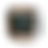 Sac à main pour femme brodé , bandoulière simili-cuir kaki bronze, toile vert canard, tissu imprimé, broderie    fleurs sauvages