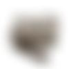 Grand portefeuille femme, faux cuir gris, suédine taupe, tissu avec immeubles et maisons,  porte-chéquier,   dragonne amovibl