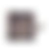 Petit porte-monnaie homme ,  faux-cuir taupe , toile de coton, mousqueton bronze,  porte-clés, broderie rose des vents, arbres, nature