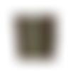 Petit portefeuille compact homme,  faux cuir  marron taupe et  tissu kaki vert motif végétal, 2 volets