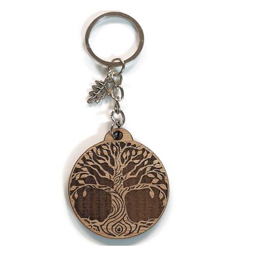 Porte clés arbre de vie gravure au laser