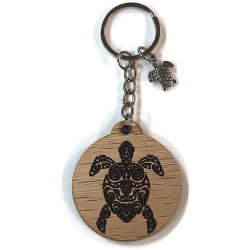 Porte clés tortue de mer, gravure au laser