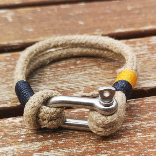 Bracelet corde en chanvre