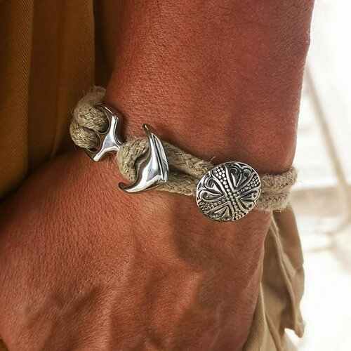 Bracelet naturel en chanvre fait mains en france