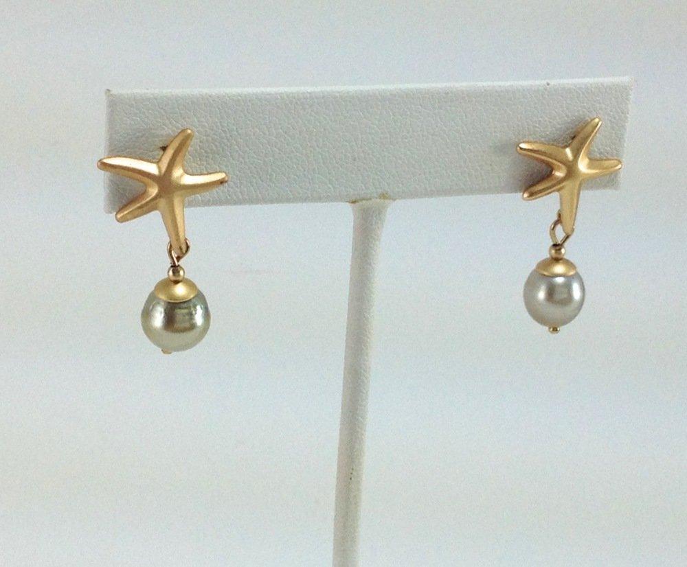 Boucles d oreille avec perles de Tahiti
