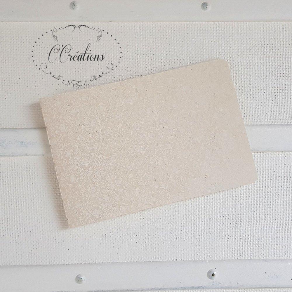 Carnet / Livre d'or mariage { Loïs } coloris blanc, motifs petites fleurs , format A5