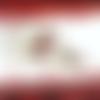 Parure collier poupée gothique verre filé-main chaîne rosaire perles verre roses aluminium apprêts acier inoxydable